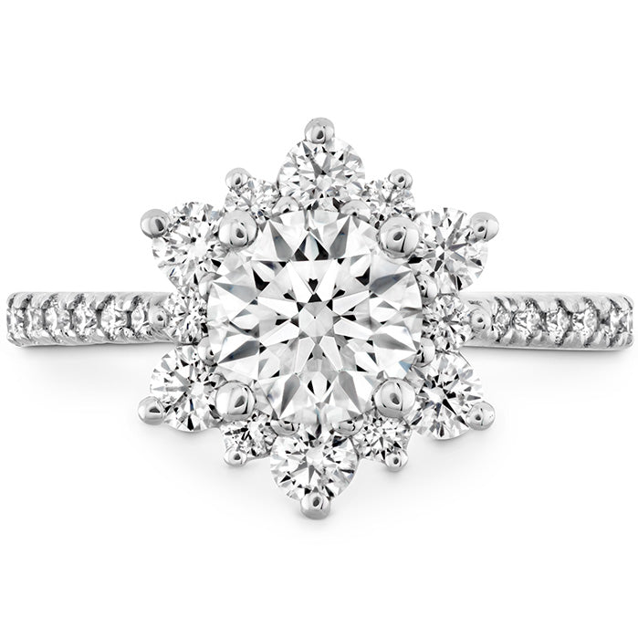 0.34 ctw. Delight Lady Di - Diamond Band Semi-Mount in 18K White Gold