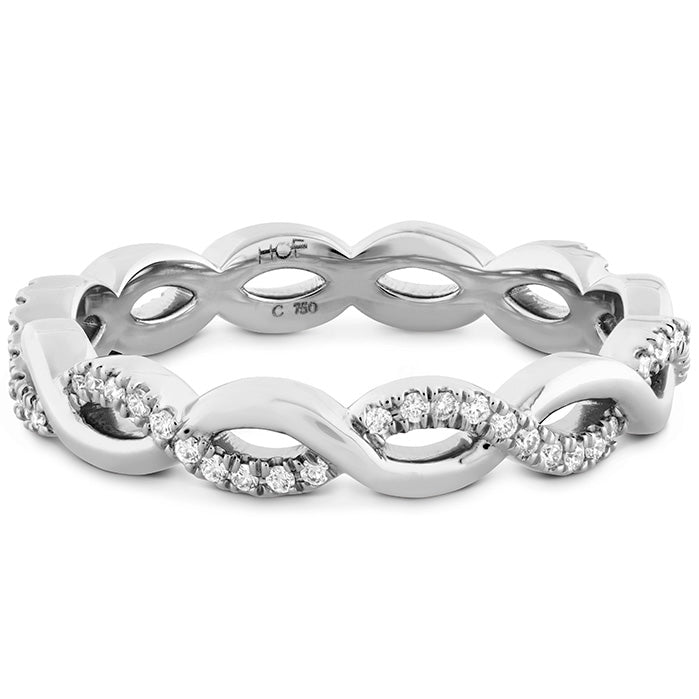 0.18 ctw. Destiny Lace Twist Eternity Band in 18K White Gold