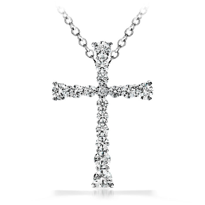 0.25 ctw. Divine Journey Cross Pendant Necklace in 18K White Gold