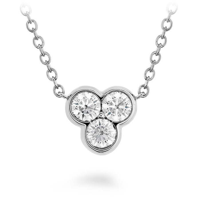 0.18 ctw. Effervescence Diamond Pendant in 18K White Gold