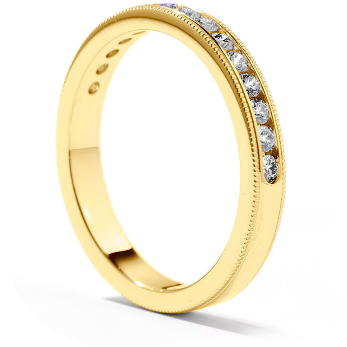 0.3 ctw. Eterne Milgrain Wedding Band in 18K Yellow Gold