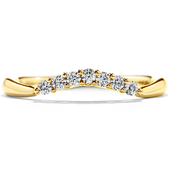 0.15 ctw. Felicity Queen Anne Band in 18K White Gold