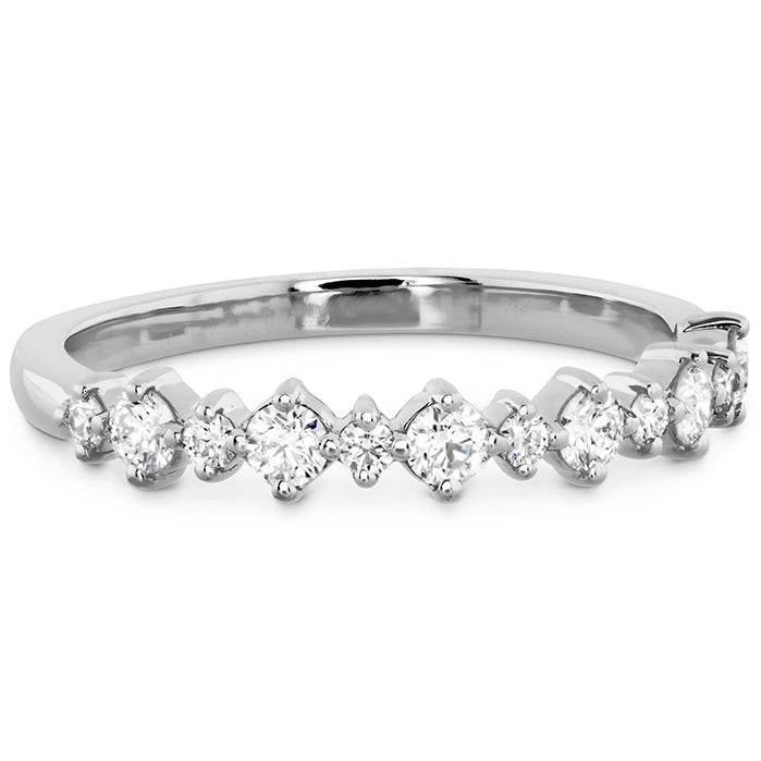 0.37 ctw. Gracious Classic Diamond Band in 18K White Gold