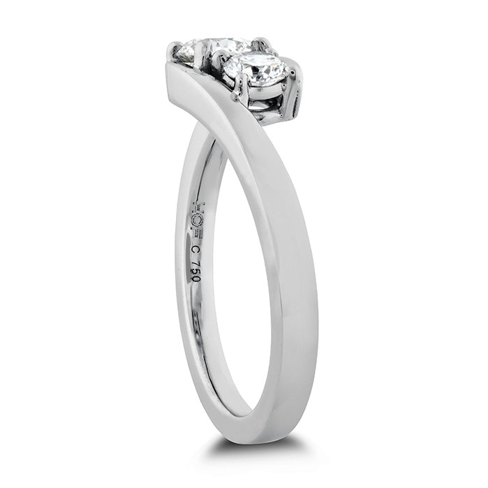 0.54 ctw. HOF Two Diamond Ring in 18K White Gold
