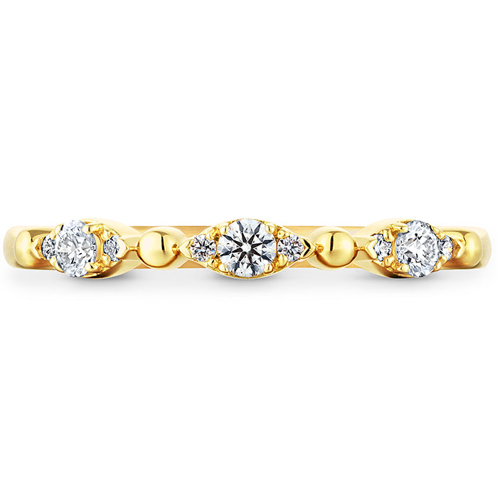 0.16 ctw. HOF Beaded Regal Band in 18K White Gold