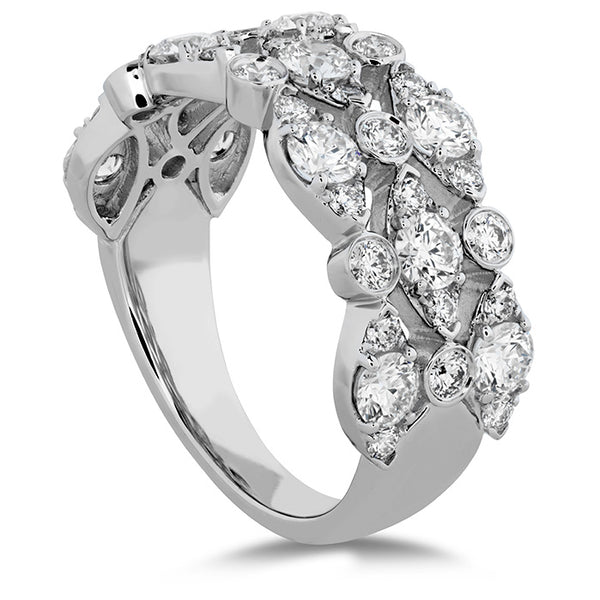 1.6 ctw. HOF Bezel Regal Triple Ring in 18K White Gold