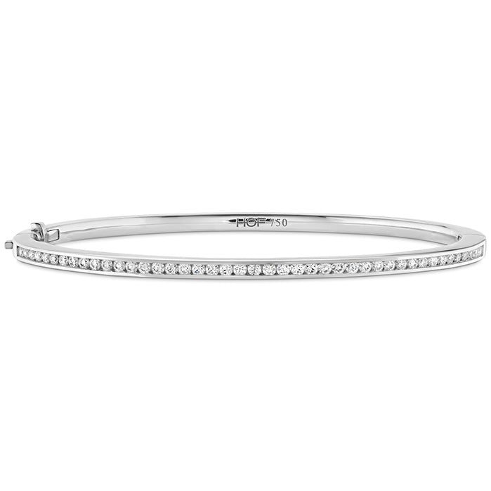 0.7 ctw. HOF Classic Channel Set Bangle - 160 in 18K White Gold
