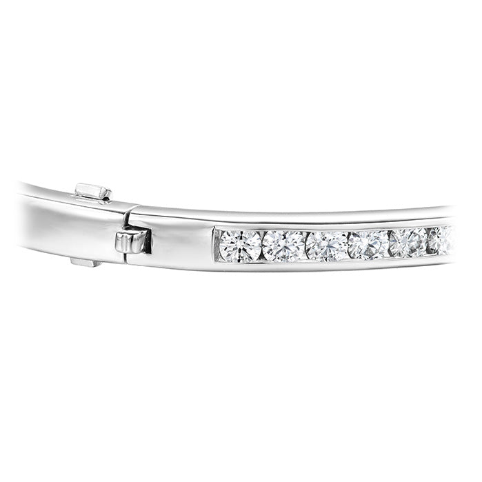 2.15 ctw. HOF Classic Channel Set Bangle - 270 in 18K White Gold