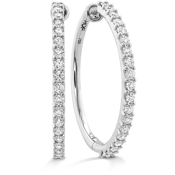 1.2 ctw. HOF Classic Diamond Hoop - Large in 18K White Gold
