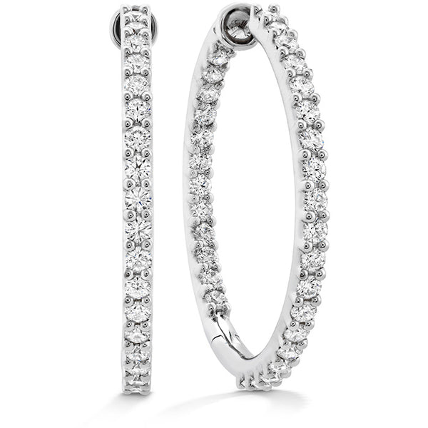 1.95 ctw. HOF Classic Dia Hoop Inside-Out - Large in 18K White Gold