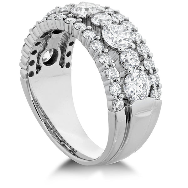 2.25 ctw. HOF Enticing Three Row Ring in 18K White Gold