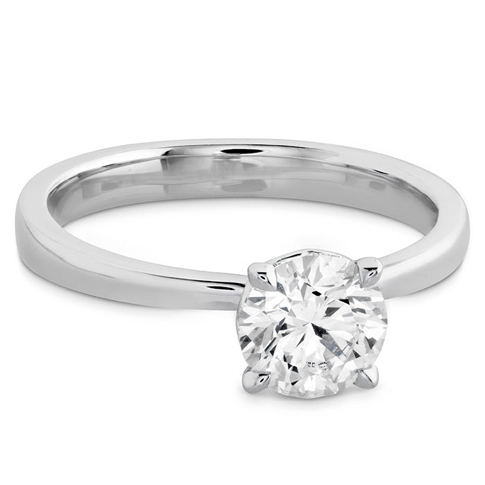 HOF Signature Solitaire Engagement Ring in 18K White Gold