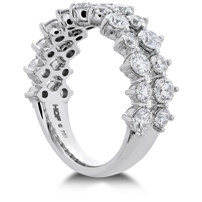 1.95 ctw. HOF Timeless Two Row Ring in 18K White Gold
