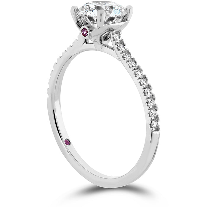 0.18 ctw. Sloane Silhouette Engagement Ring Diamond Band-Sapphires in 18K White Gold