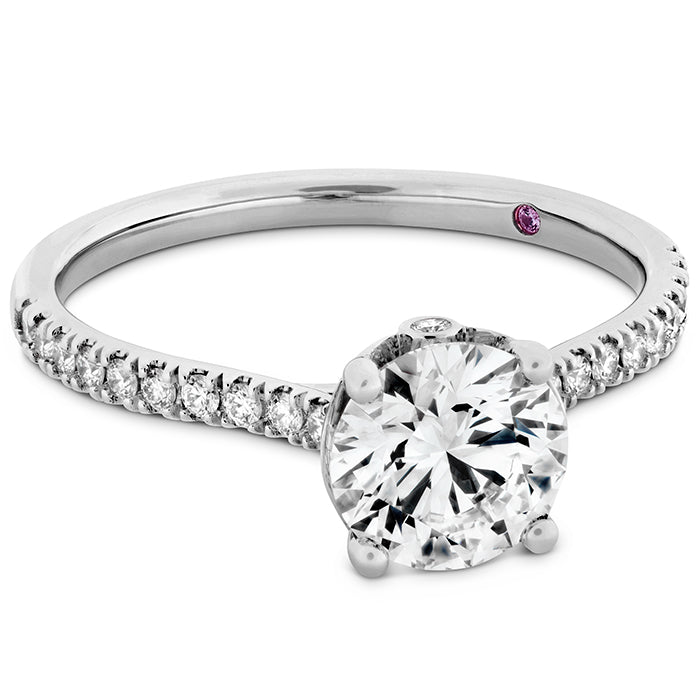 0.18 ctw. Sloane Silhouette Engagement Ring Diamond Band in 18K White Gold