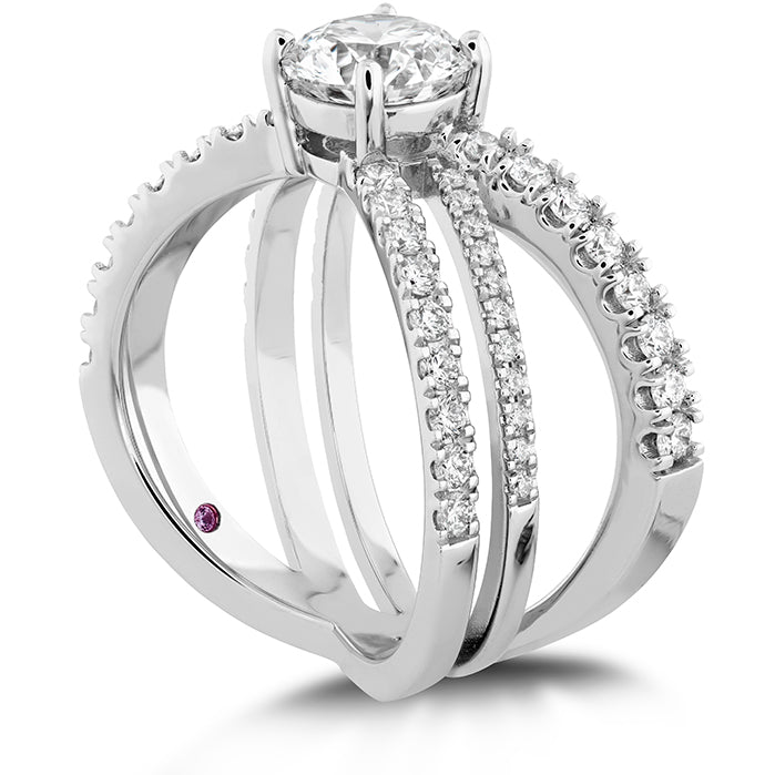 0.6 ctw. Harley Wrap Engagement Ring in 18K White Gold