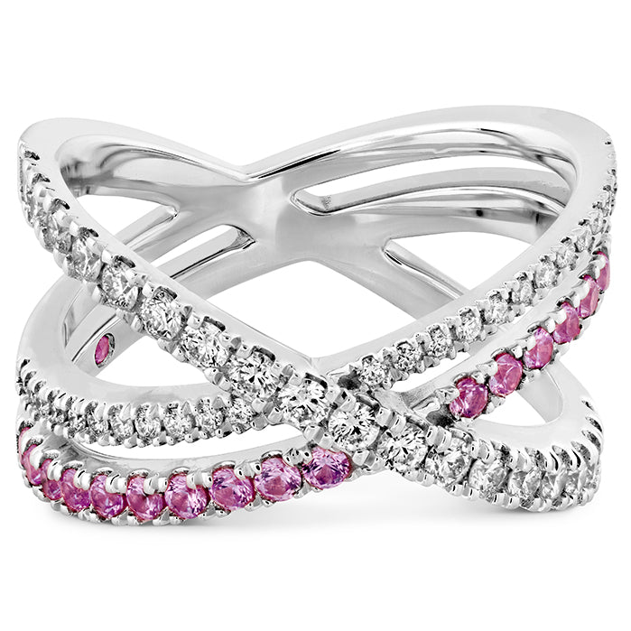 0.45 ctw. Harley Wrap Power Band with Sapphires in 18K White Gold