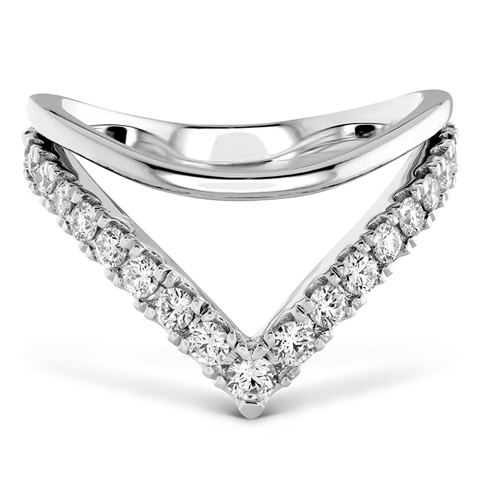 0.51 ctw. Harley Silhouette Power Band in 18K White Gold