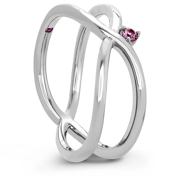 Love Code - Love Wrap Band with Sapphires in 18K White Gold