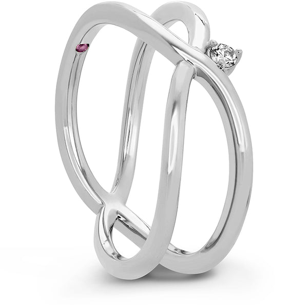 0.03 ctw. Love Code - Love Wrap Band in 18K White Gold