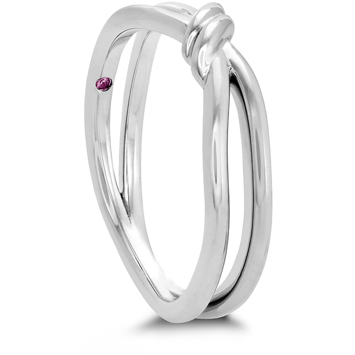 Love Code - Forget-You-Never Band in 18K White Gold