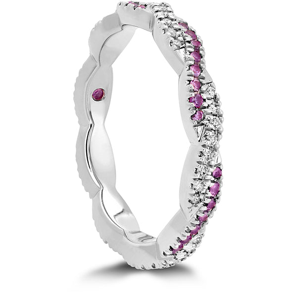 0.15 ctw. Harley Go Boldly Braided Eternity Power Band with Sapphires in 18K White Gold
