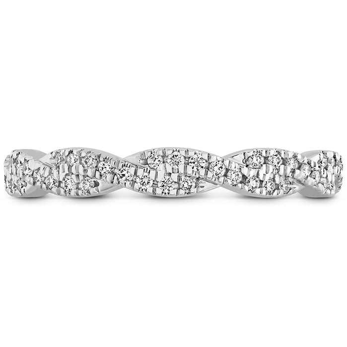 0.29 ctw. Harley Go Boldly Braided Eternity Power Band in 18K White Gold
