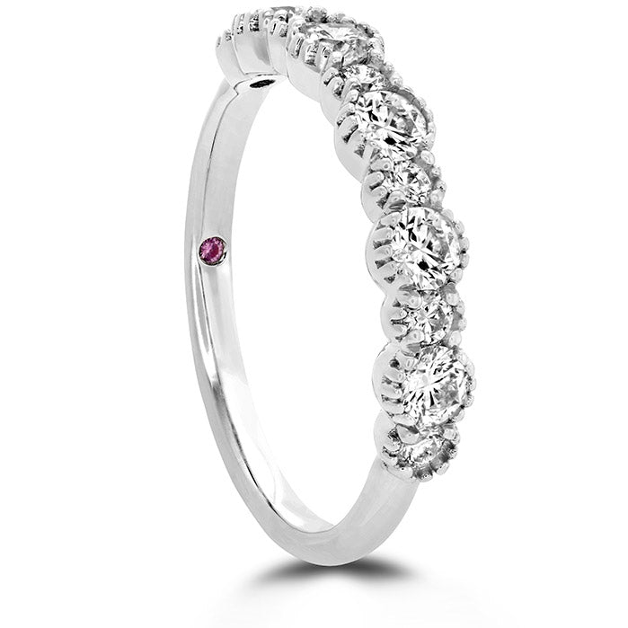 0.67 ctw. Behati Beaded Band in 18K White Gold