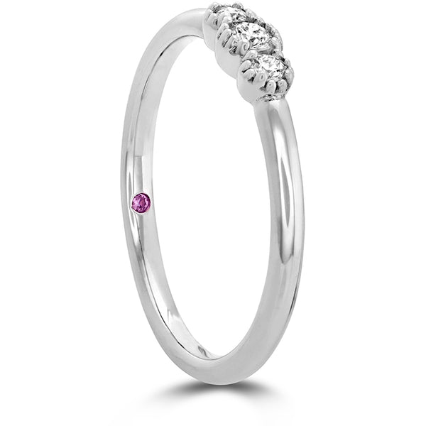 0.12 ctw. Behati Sweetheart Band in 18K White Gold