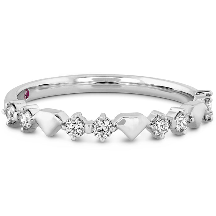 0.21 ctw. Behati Bold Shapes Band in 18K White Gold