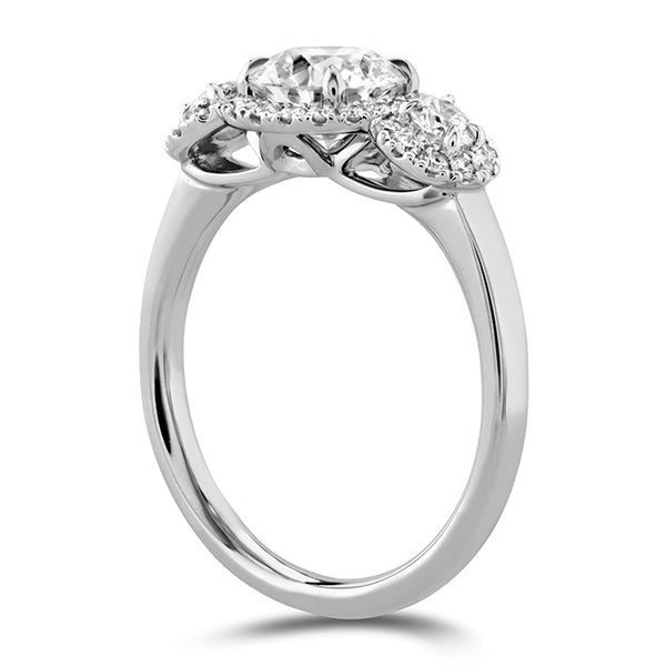 0.4 ctw. Integrity HOF Three Stone Metal Semi-Mount in 18K White Gold