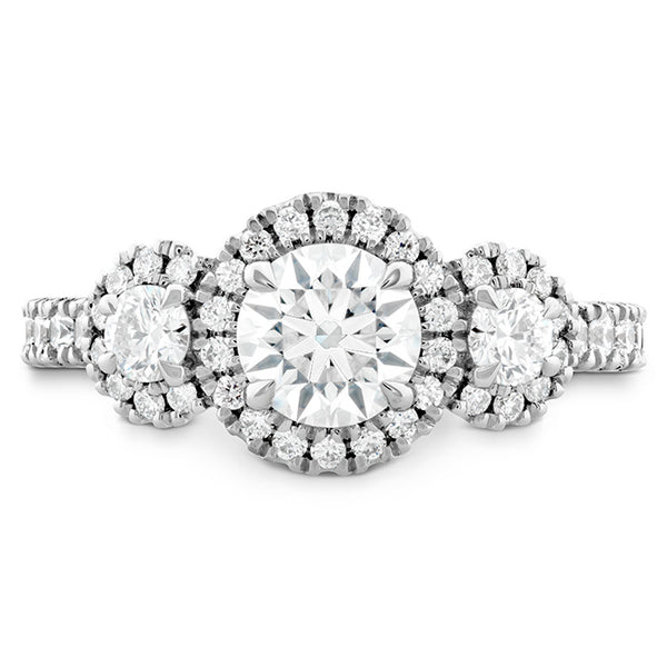 0.6 ctw. Integrity HOF Three Stone Engagement Ring in 18K White Gold