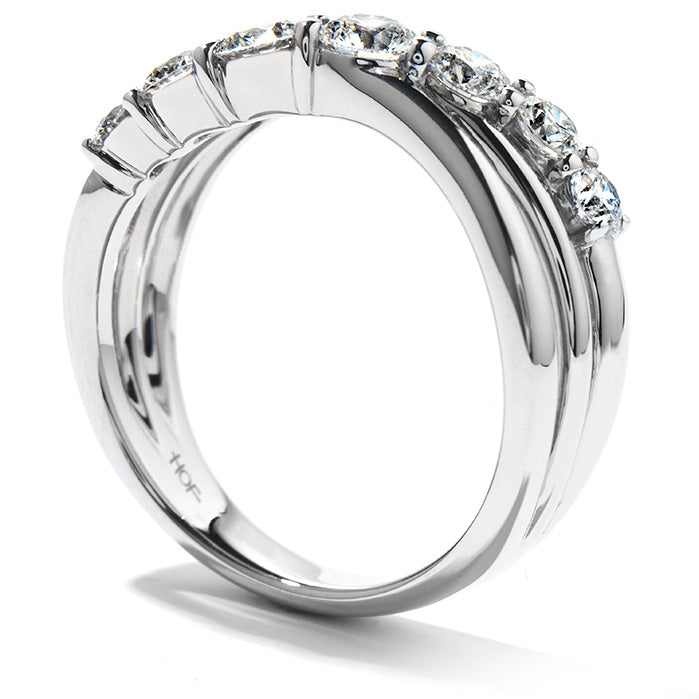 0.95 ctw. Intermingle Single Right Hand Ring in 18K White Gold