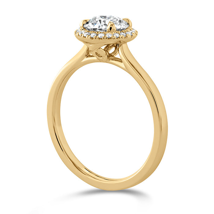 0.06 ctw. Juliette HOF Halo Semi-Mount in 18K White Gold