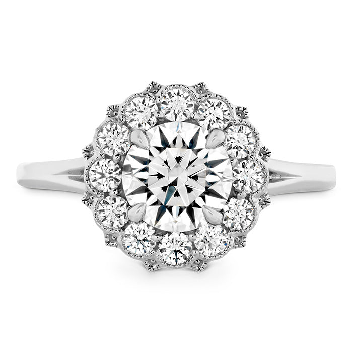 0.28 ctw. Liliana Halo Engagement Ring in 18K White Gold