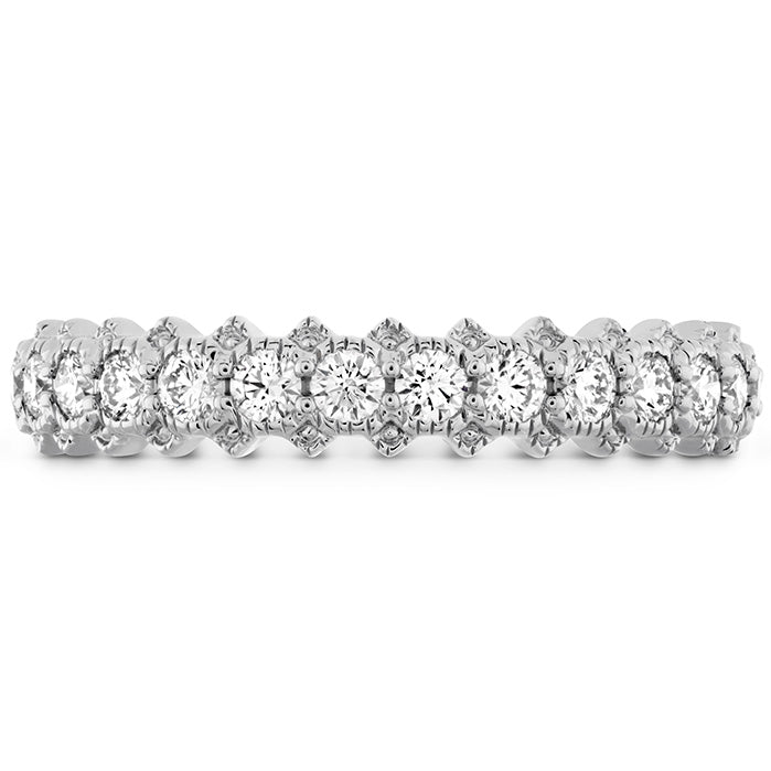 0.45 ctw. Liliana Bezel Milgrain Diamond Band in 18K White Gold
