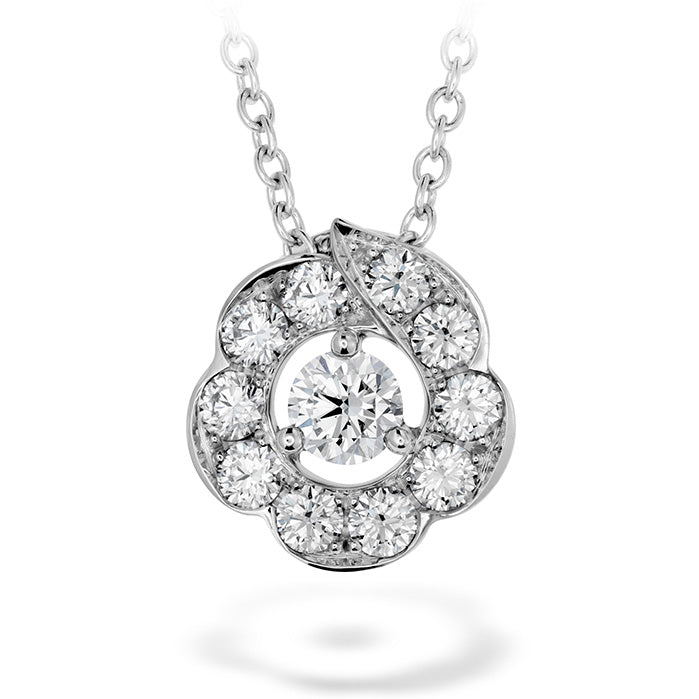 0.45 ctw. Lorelei Bloom Pendant in 18K White Gold