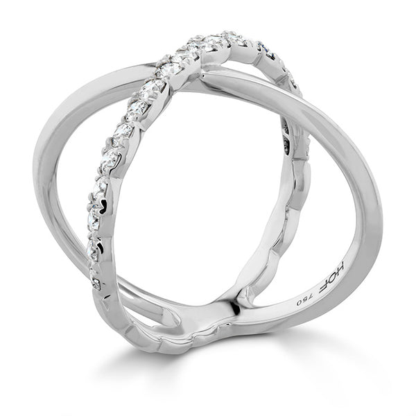 0.6 ctw. Lorelei Criss Cross Ring in 18K White Gold
