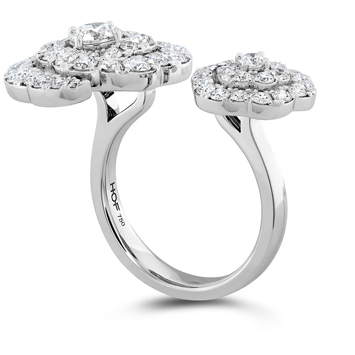 2.6 ctw. Lorelei Diamond Double Floral Ring in 18K White Gold
