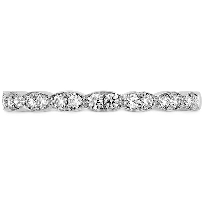 0.2 ctw. Lorelei Floral Diamond Band in 18K White Gold