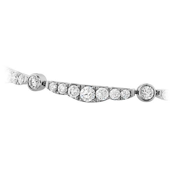 4.35 ctw. Lorelei Ribbon Diamond Bracelet in 18K White Gold