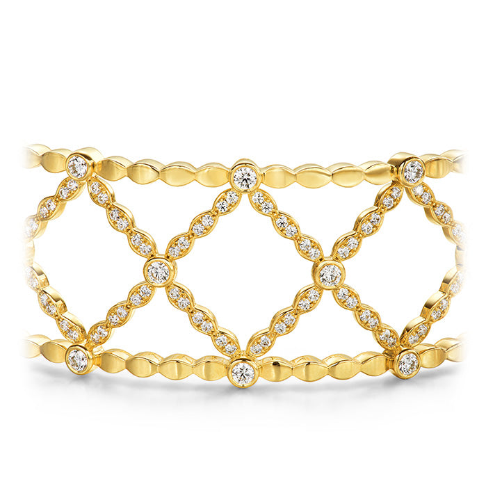 2.45 ctw. Lorelei Lattice Diamond Bangle in 18K White Gold