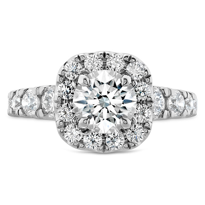 1.17 ctw. Luxe Transcend Premier Custom Halo Diamond Ring in 18K White Gold