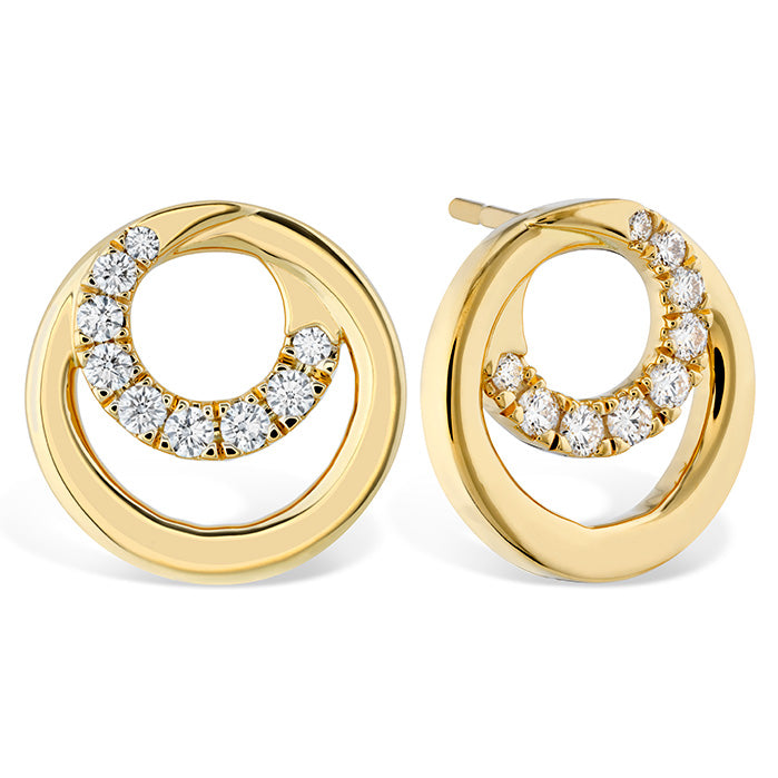 0.39 ctw. Optima Circle Earrings in 18K White Gold