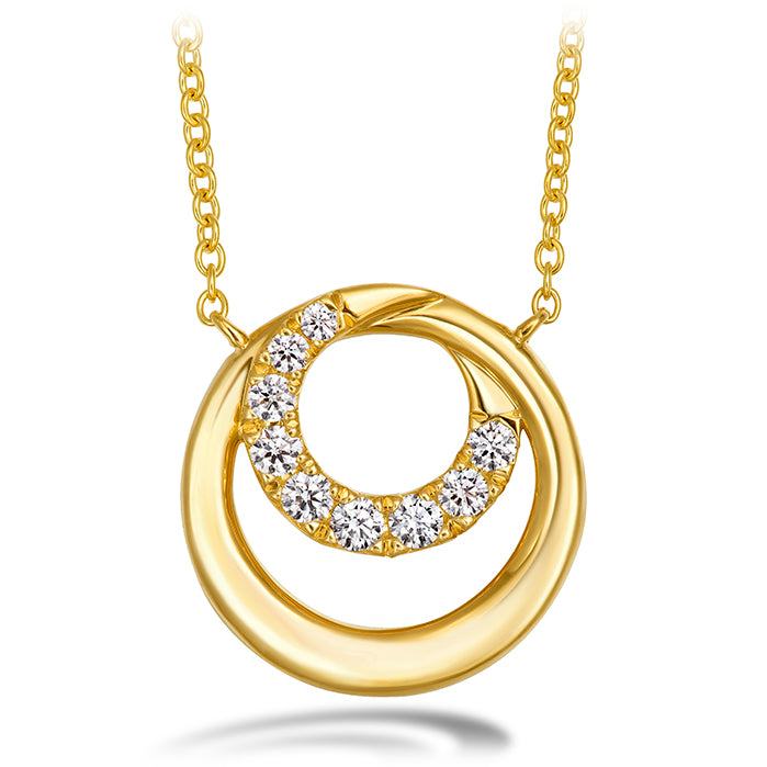0.19 ctw. Optima Circle Pendant in 18K Yellow Gold