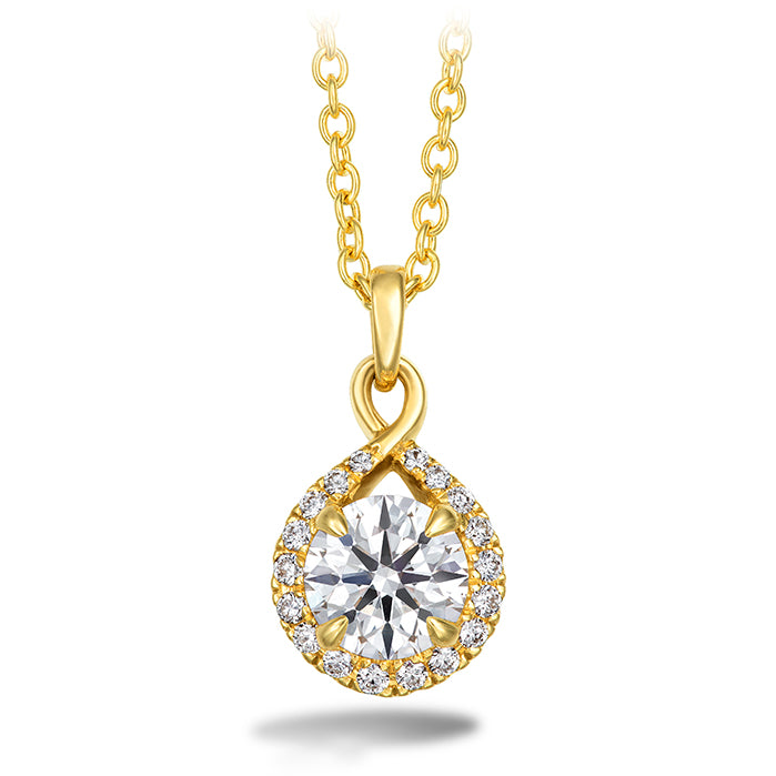 0.4 ctw. Optima Diamond Drop Pendant in 18K White Gold