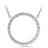 0.66 ctw. Signature Circle Pendant - Large in 18K White Gold