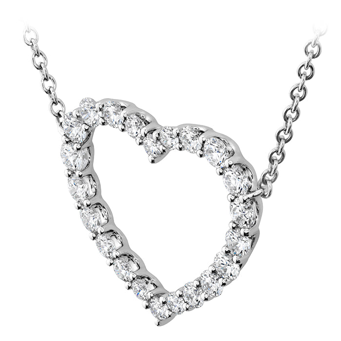 0.67 ctw. Signature Heart Pendant - Large in 18K White Gold