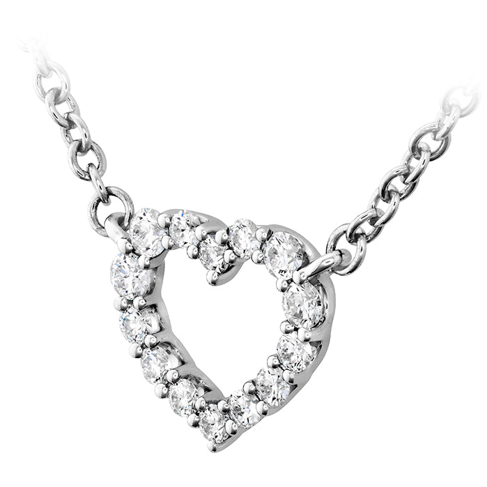 0.11 ctw. Signature Heart Pendant - Small in 18K White Gold