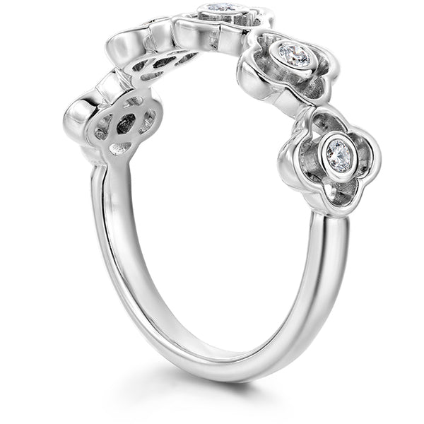 0.15 ctw. Signature Petal Bezel Band in 18K White Gold